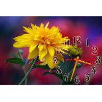 Настенные часы Желтый цветок