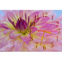 Настенные часы Нежный розовый цветок, 30х45 см