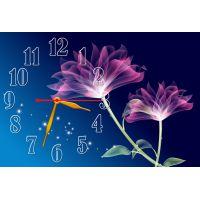 Настенные часы Необычные цветочки, 30х45 см
