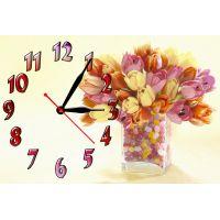 Настенные часы Тюльпаны и конфетки, 30х45 см