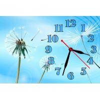 Настенные часы Одуванчик, голубой фон, 30х45 см