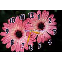 Настенные часы Розовые цветочки, 30х45 см