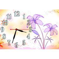 Настенные часы Фиолетовые цветы