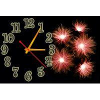 Настенные часы Дивные цветы, 30х45 см