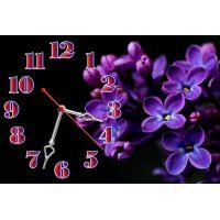 Настенные часы Сирень, 30х45 см