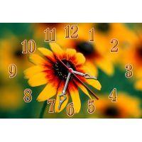 Настенные часы Оранжевый цветочек, 30х45 см