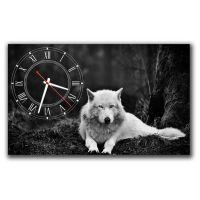 Настенные часы Белый волк
