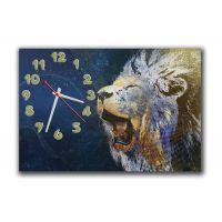 Настенные часы Рев льва, 30х45 см