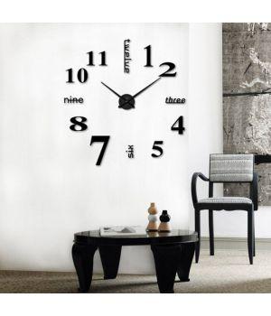 3D часы настенные с надписями, черные