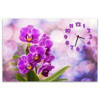 Настінний годинник Фіолетові орхідеї, 60х90 см