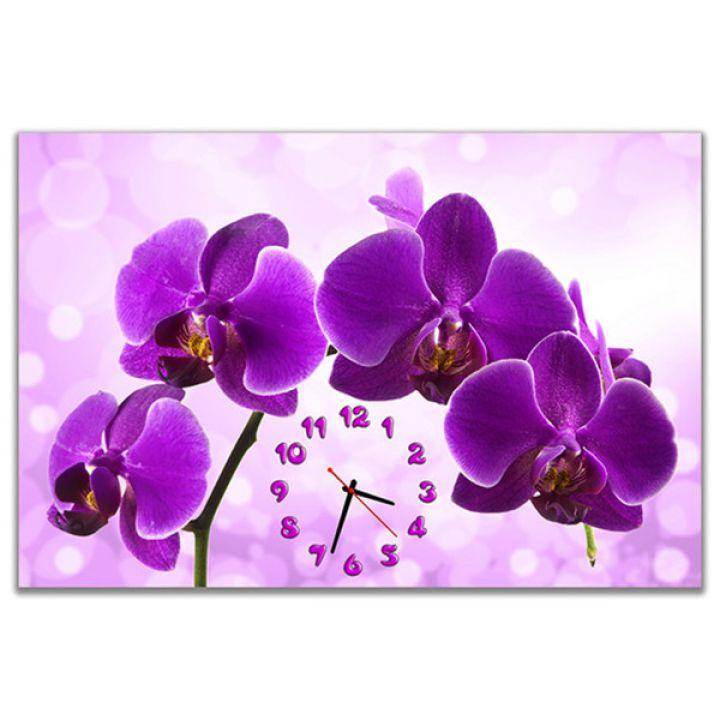 Настенные часы Фиолетовый фаленопсис