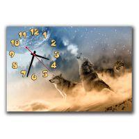 Настенные часы Три волка, 30х45 см