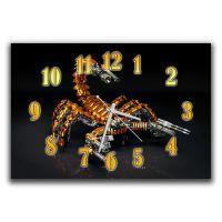 Настенные часы в комнату Скорпион, 30х45 см