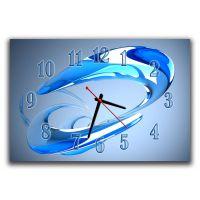 Настенные часы Синяя абстракция, 30х45 см