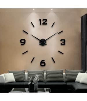 3D Часы на стену без корпуса 4230 Black