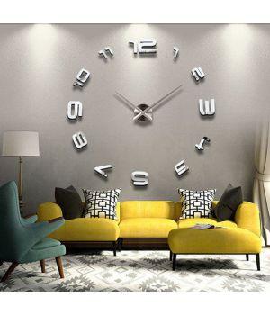 3D настенные часы 4208 Silver