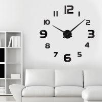 3D большие часы на стену 4228 Black