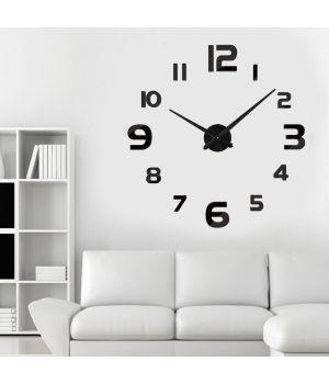 3D великий годинник на стіну 4228 Black