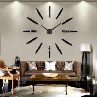 3D часы на стену больших размеров для гостиной 4215 Black