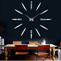 Величезний настінний годинник 3D 4212 Silver