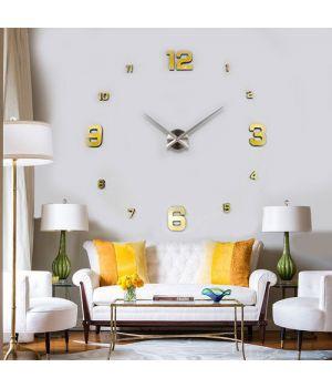 Часы на всю стену 3D 4205 Gold