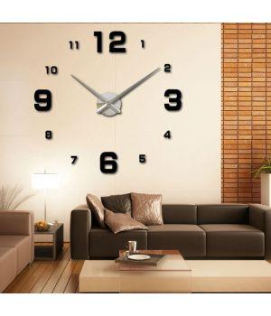 Настенные часы циферблат с большими цифрами 3D 4205 Black