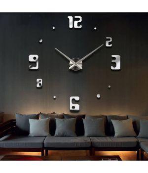 3D Часы на стену без корпуса 4209 Silver