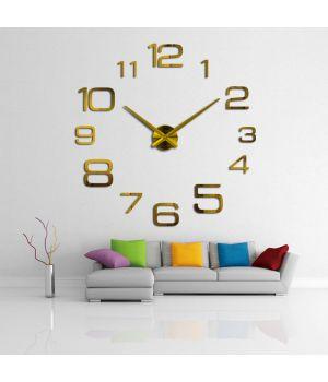 3D Декоративные часы на всю стену 4226 Gold