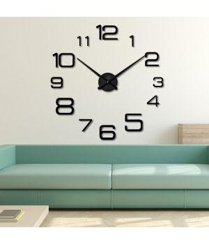 3D Настенные часы с отдельными цифрами 4226 Black