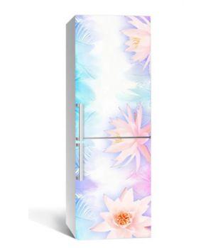 65х200 см, Наклейка на холодильник Легкость лотоса