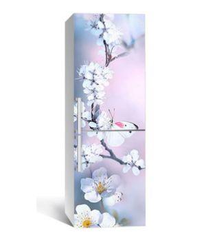 65х200 см, Наклейка на холодильник Гостьи вишневого дерева