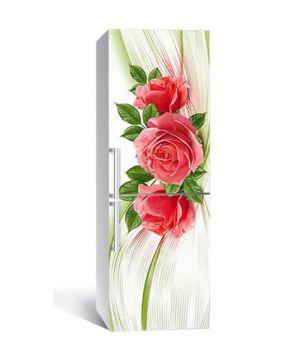 65х200 см, Наклейка на холодильник Рассказы алой розы