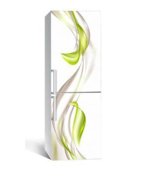 65х200 см, Наклейка на холодильник Зеленая дымка
