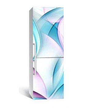 65х200 см, Наклейка на холодильник Бирюзовые лопасти