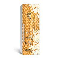 65х200 см, Наклейка на холодильник Пчелиные соты