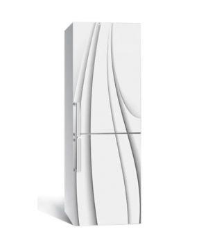 65х200 см, Наклейка на холодильник Тонкие линии