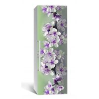 65х200 см, Наклейка на холодильник Вишневое цветение