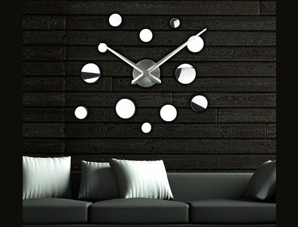 Обзор товара - Огромные часы настенные Round 2018 Silver