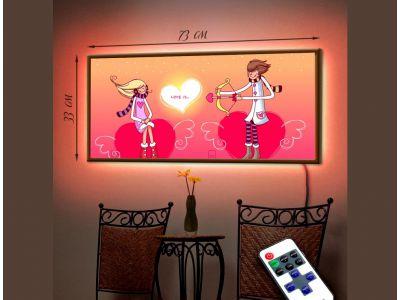 Обзор - Стильная картина со светодиодами Амур