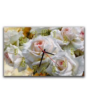 Настенные часы для спальни Роскошь розы, 30х50 см