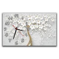 Годинник настінний для спальні Ніжне квіткове дерево, 30х50 см