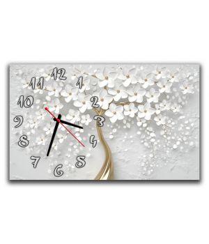 Настенные часы для спальни Нежное цветочное дерево, 30х50 см