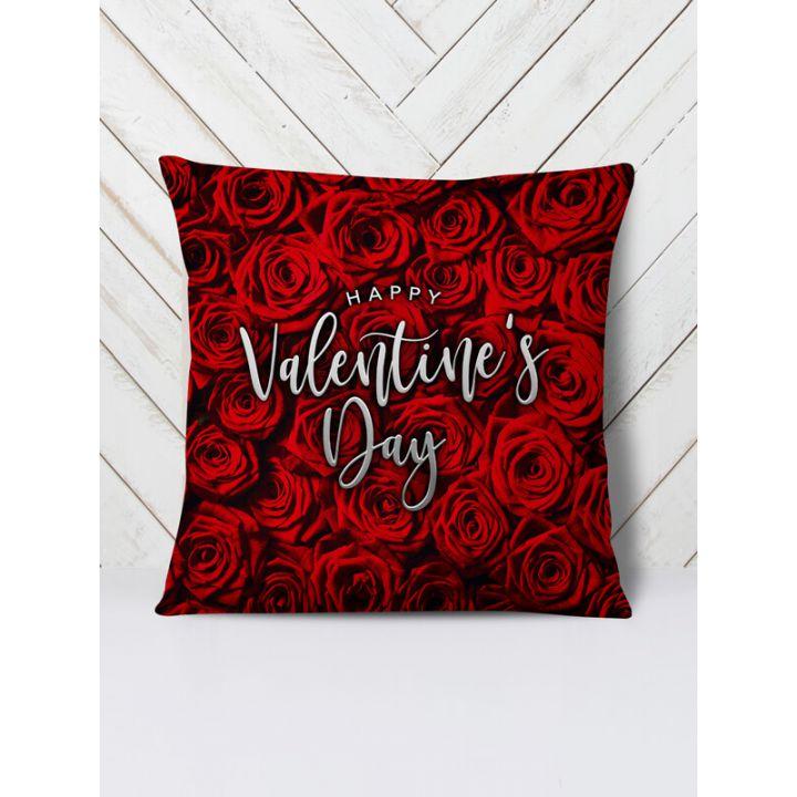 Оригинальная декоративная цветная Подушка Валентинов день, 42х42 см