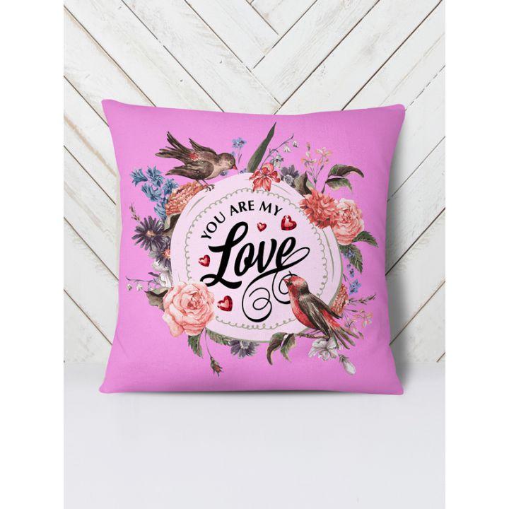 Оригинальная декоративная цветная Подушка Мы моя любовь, 42х42 см