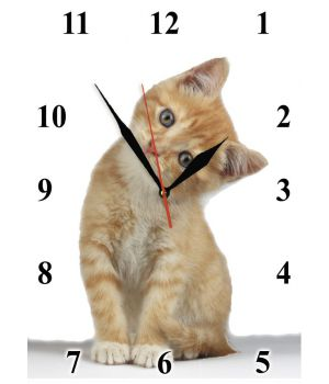 25х35 см, Скляний настінний годинник, 77930