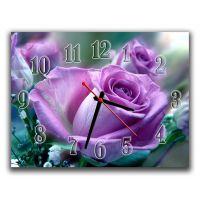 Настенные часы Фиолетовая роза, 30х40 см
