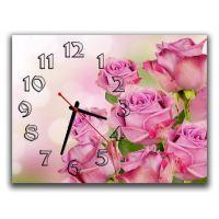 Настінний годинник Сяйво троянди, 30х40 см