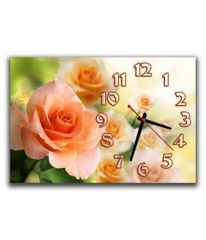 Годинник настінний Кремова троянда, 30х45 см