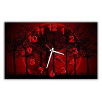 Настенные часы Природа в красном, 30х50 см