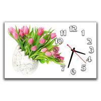Настінний годинник Букет тюльпанів, 30х50 см